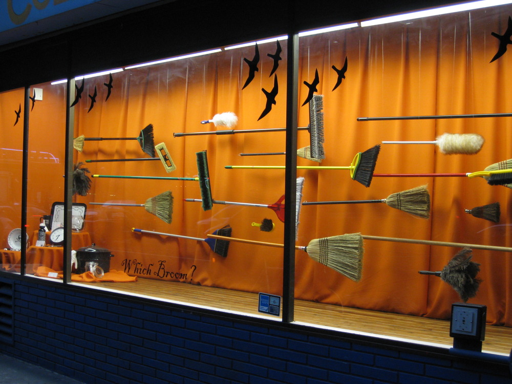 Window Display - Which Broom - Cole Hardware