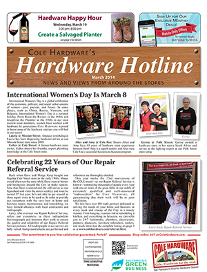 Cole Hardware's March 2014 Hardware Hotline