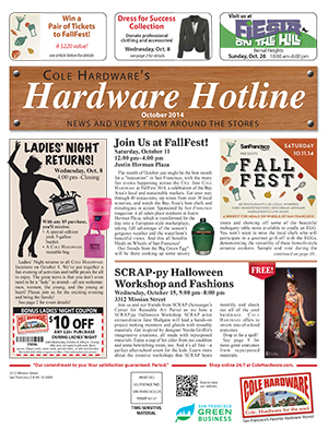 Cole Hardware's October 2014 Hardware Hotline