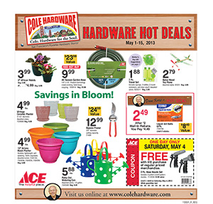 Cole Hardware's May 2013 Hardware Hot Deals
