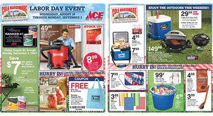 Labor Day Event, Wednesday August 28th through Monday September 2nd