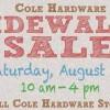 sidewalk sale Saturday, August 27 10 am - 4pm