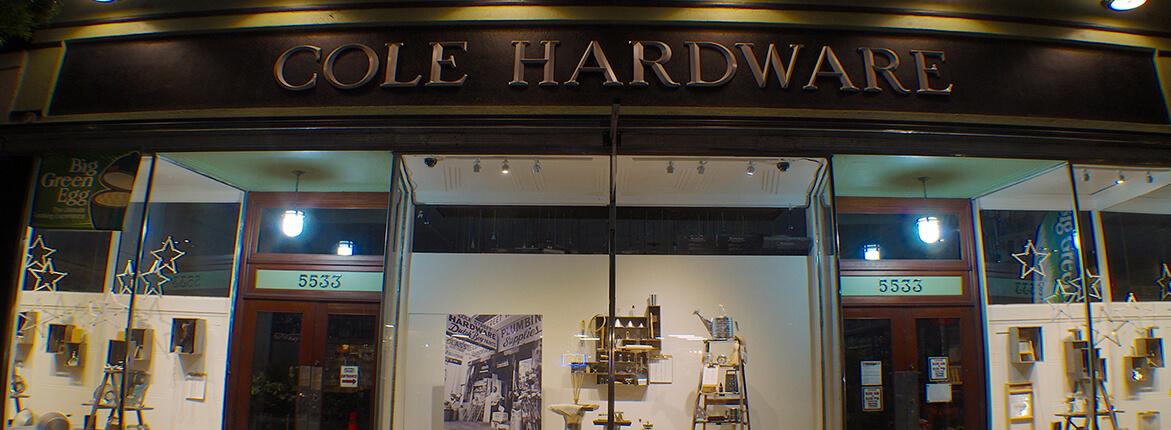 Rockridge Cole Hardware Cole Hardware